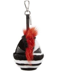 Fendi - Black Fur Bug Keychain - Lyst