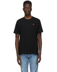 COMME DES GARÇONS PLAY - ブラック Small Heart Patch T シャツ - Lyst