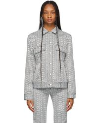 Givenchy ブラック & ホワイト 4g デニム ジャケット