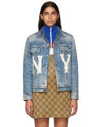Gucci New York Yankees Edition ブルー デニム ジャケット