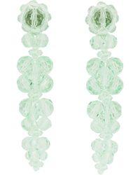 Simone Rocha Boucles d'oreilles vertes Cluster Drip - Multicolore