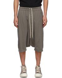 Rick Owens Drkshdw Grey Pods Shorts