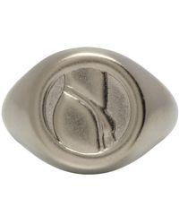 Ludovic de Saint Sernin Silver Top Ring - Metallic