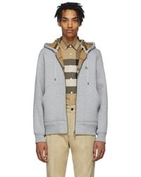Burberry Grey Fordson Hoodie - Gray