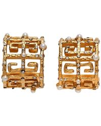 Givenchy Gold Pearl 4g Earrings - Metallic