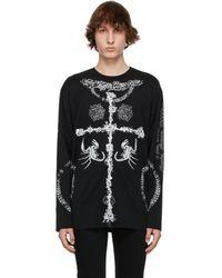 Givenchy Black Oversized Tattoo Long Sleeve T-shirt
