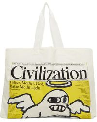 Junya Watanabe White Civilization Edition Issue 1 Vol. 1 Tote - Multicolour