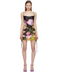 CHARLOTTE KNOWLES Ssense Exclusive Black & Pink Harley Weir Edition Ntica Dress