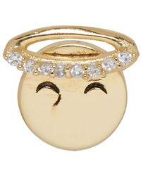 Marc Jacobs - Gold Angel Face Earring - Lyst