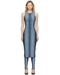 Marine Serre Blue Denim Moonfish Dress