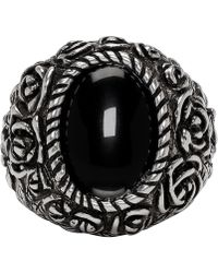 Givenchy - Silver Flower Ring - Lyst