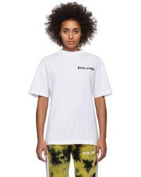 Palm Angels White New Basic T-shirt