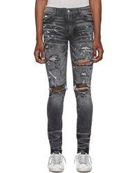 Amiri Gray Paint Splatter Jeans