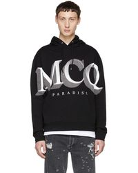 McQ - Black Logo Big Hoodie - Lyst