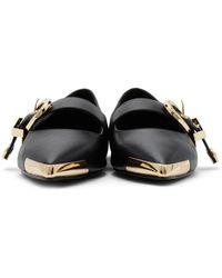 Versace Jeans Couture ブラック Audrey フラット