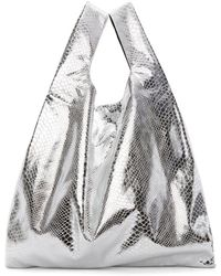 MM6 by Maison Martin Margiela - Silver Snake Shopping Tote - Lyst