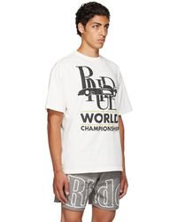 Rhude オフホワイト World Champion T シャツ