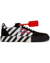 Off-White c/o Virgil Abloh Black And White Diag Low Vulcanized Trainers