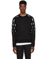 Neil Barrett - Black Multi Lightning Sweatshirt - Lyst