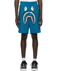 A Bathing Ape Short bleu Wide Shark Sweat