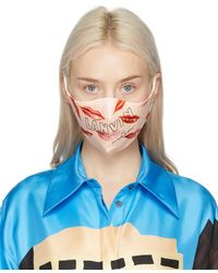 Lanvin Two-pack Pink Silk Lips Mask - Blue