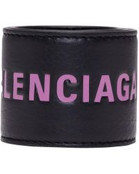 Balenciaga - Black And Purple Cycle Bracelet - Lyst