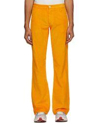 ERL Pantalon en velours côtelé orange