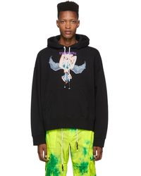 Palm Angels - Black Angel Hoodie - Lyst