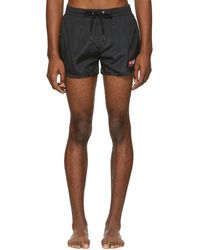 DIESEL - Black Bmbx-sandy Logo Swim Shorts - Lyst
