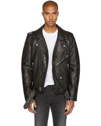 BLK DNM - Black Leather Classic '5' Biker Jacket - Lyst