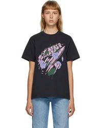 Ganni T-shirt noir Rocket