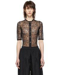Nina Ricci - Black Lace Bodysuit - Lyst