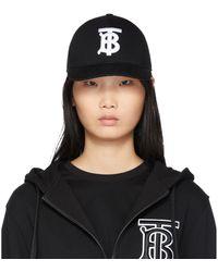 Burberry Casquette de base-ball a logo noire