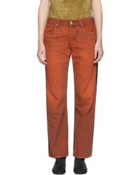 Bless - Two-pack Levis Edition Orange And Green Pleatfront 501 Jeans - Lyst