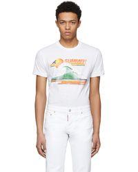 DSquared² | White Summer Chic Dan T-shirt | Lyst