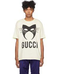 Gucci - オフホワイト マニフェスト T シャツ - Lyst