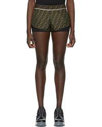 Fendi - Brown Forever Shorts - Lyst