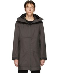 Bottega Veneta - Grey Zip-up Coat - Lyst