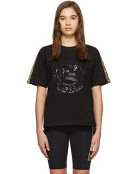 Fendi Roma T-shirt With Ff Bands - Black