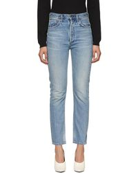 Citizens of Humanity - Blue Charlotte High-rise Straight Jeans - Lyst