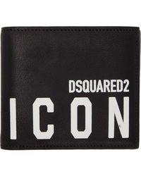 DSquared² ブラック Icon バイフォールド ウォレット