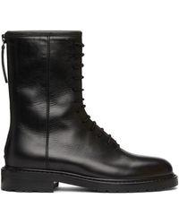 LEGRES - ブラック コンバット ブーツ - Lyst