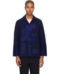 Blue Blue Japan Indigo Sashiko Patchwork Jacket - Blue