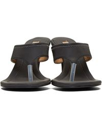 Yeezy - Grey Reflective Thong Sandals - Lyst