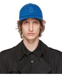 Burberry - ブルー Tb モノグラム ベースボール キャップ - Lyst