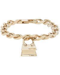 Jacquemus Gold La Gourmette Chiquito Bracelet - Metallic