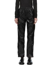 MM6 by Maison Martin Margiela - Black Vinyl Trousers - Lyst