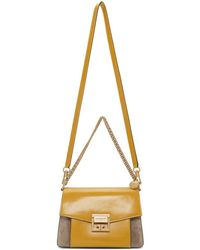 Givenchy Yellow And Taupe Small Gv3 Bag - Multicolour