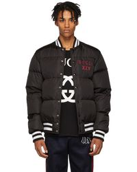 c56b8d1a0 Gucci Pirates Leather Bomber Jacket in Black for Men - Lyst