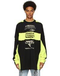 Vetements - イエロー & ブラック Motocross Patched ロゴ ロング スリーブ T シャツ - Lyst